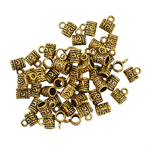 - Flameer 50 Pcs Bright Bali Alloy Daisy Spacers Beads for Jewelry Making Necklace