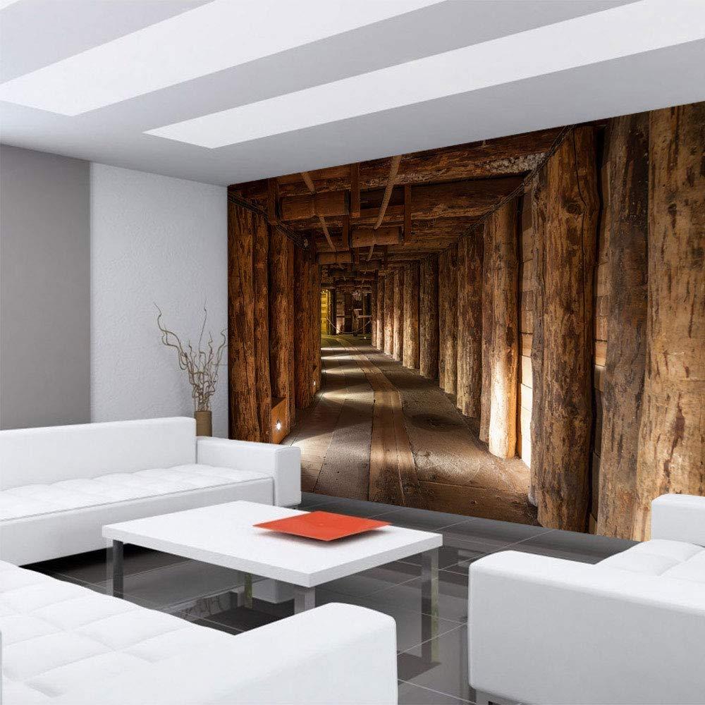 Papel Pintado Fotográfico 350 x 245 cm Premium Plus - Papel pintado fotográfico pared de pintado de - Salt Mina - Minas de Sal de montaña de madera Montaña ...