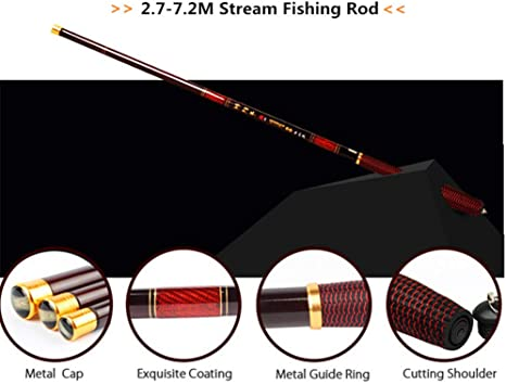 2.4M Super Strong Carbon Telescopic Spinning Pole Saltwater Sea Fishing Rods P7