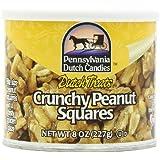 Pennsylvania Dutch Candies Crunchy Peanut Squares, 8-Ounces Tins (Pack of 4)