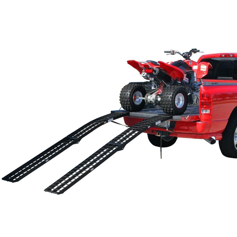 Rage Powersports 120'' Black Widow Aluminum Folding Dual Off-Road ATV Loading Ramps
