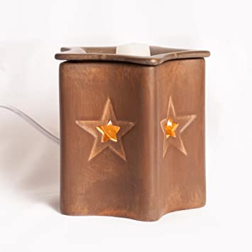 Amazon.com: 25w Bulb Wax Warmer Rustic Star - ScentSationals Wax ...