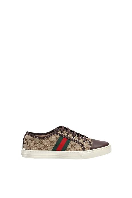 Gucci - Zapatillas de Piel para mujer Beige beige, color Beige, talla 38.5 EU: Amazon.es: Zapatos y complementos