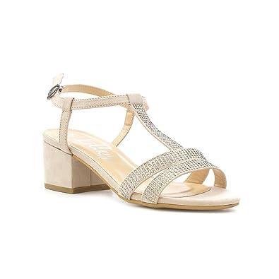 b573bdade5f3 Lilley Womens Nude T-Bar Block Heel Sandal  Amazon.co.uk  Shoes   Bags