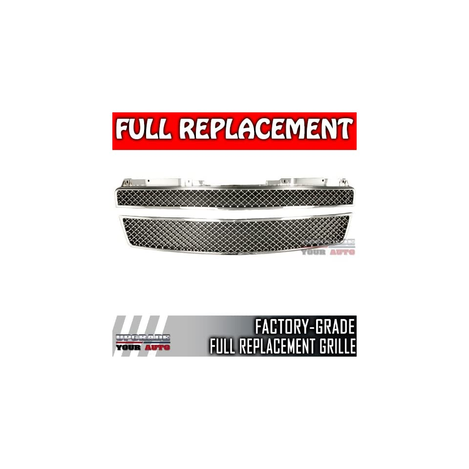 2007 2014 Chevy Tahoe Suburban Avalanche Chrome Grill Inserts LTZ Style