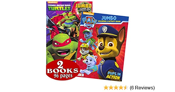 Nick Jr. Favorites: PAW Patrol & Teenage Mutant Ninja Turtles Coloring and Activity Book Set (2 Books ~ 96 Pages)