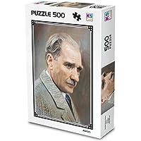 Ks Games 500 Parça Puzzle Atatürk Yağlı Boya