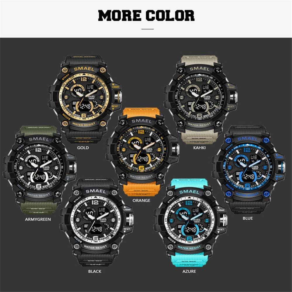 Montres militaires Armée Hommes Montre-Bracelet LED Quartz Montre Hommes Montre de Sport Hommes Horloge Masculino Reloj Hombre Verde