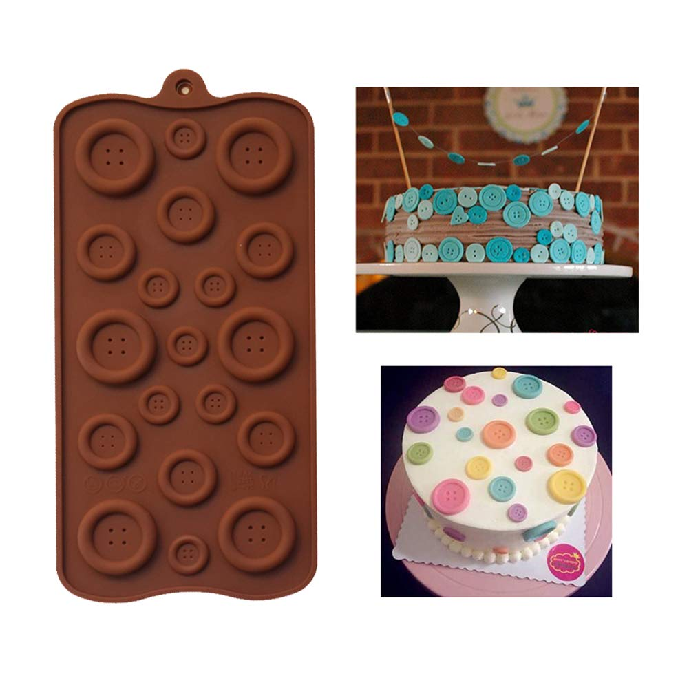 TOLTOL Silicone Button Mold,Candy Mold Fondant Mould for Baby Shower Birthday Party Cake Decoration