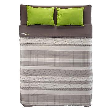 Quechua - Cama para 2 personas (140 cm, incluye saco de dormir, colchón y almohada), color beige: Amazon.es: Deportes y aire libre