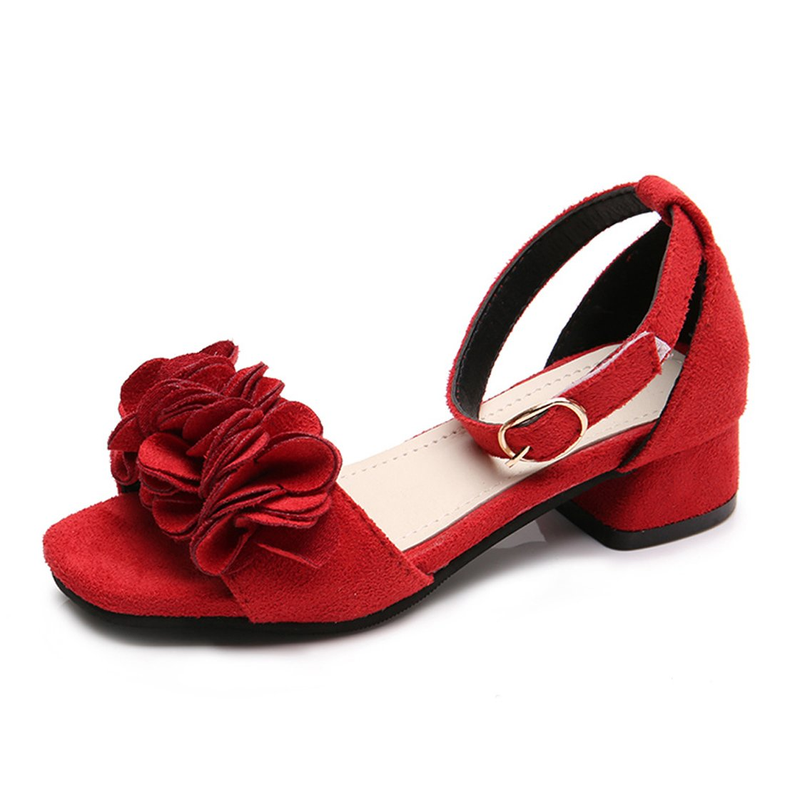 YIBLBOX Toddler Girls Kids Wedding Party Dress Shoes Summer Low Heel Sandals