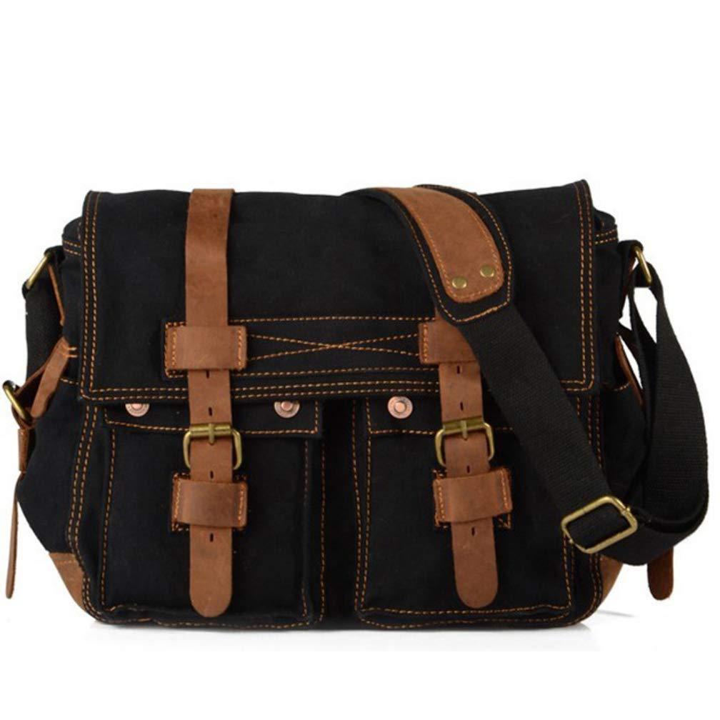 Mens Canvas Shoulder Bag Messenger Bag Retro Casual Outdoor Bag Multicolor 10L