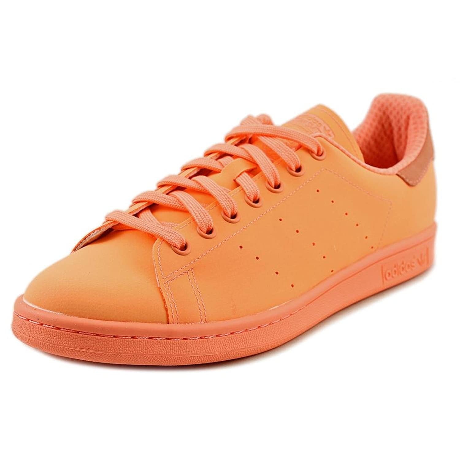 Amazon.com | Adidas Stan Smith Adiclor Men Round Toe Leather Orange Sneakers  | Fashion Sneakers
