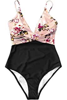 4f1e506a443bb Amazon.com  CUPSHE Women s Moonlight Shadow Lace One Piece Swimsuit ...