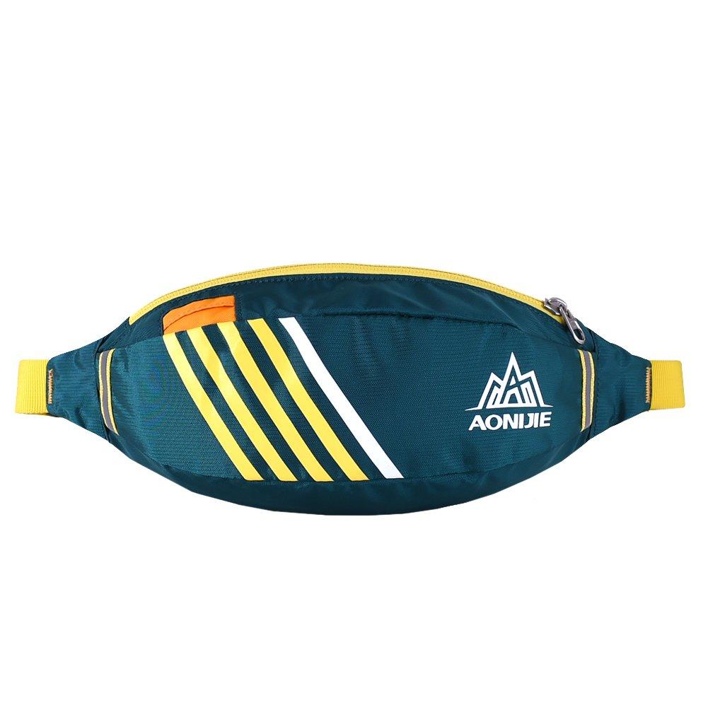 OrrinSports Adjustable Strap Nylon Water Resistant Running Waist Bag with Adjustable Belt