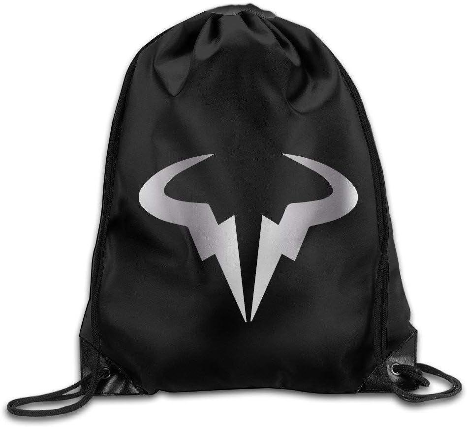 CHSUNHEY Sacs /à Dos,Sacs de Sport,Sacs /à Cordon,Rafael Nadal Bull Wall Platinum Logo Eco-Friendly Luggage Drawstring Backpack Bag