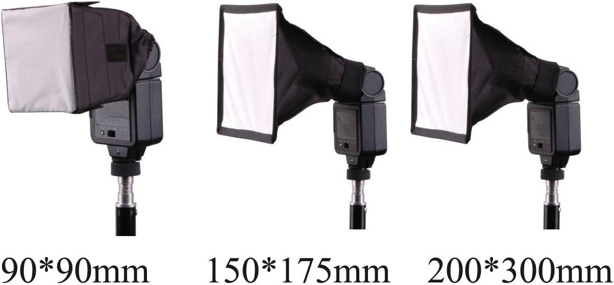 /& anderen externen Blitzger/äten Sony 17,8 cm x 15,2 cm Panasonic Pentax Mcoplus Olympus Nikon 6x8 Universal Studio SoftBox Blitz Diffusor f/ür die Canon EOS Sigma