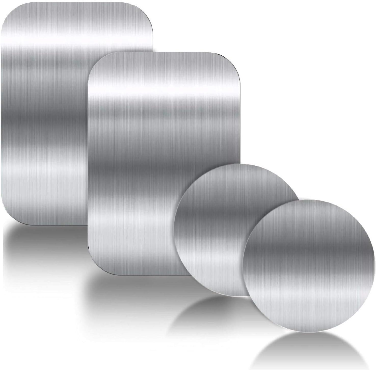 Ygkj 3m Kleber Metallplatte 4 Stück Metallplättchen Selbstklebend Set Für Magnet Kfz Handyhalter Fürs Auto Sehr