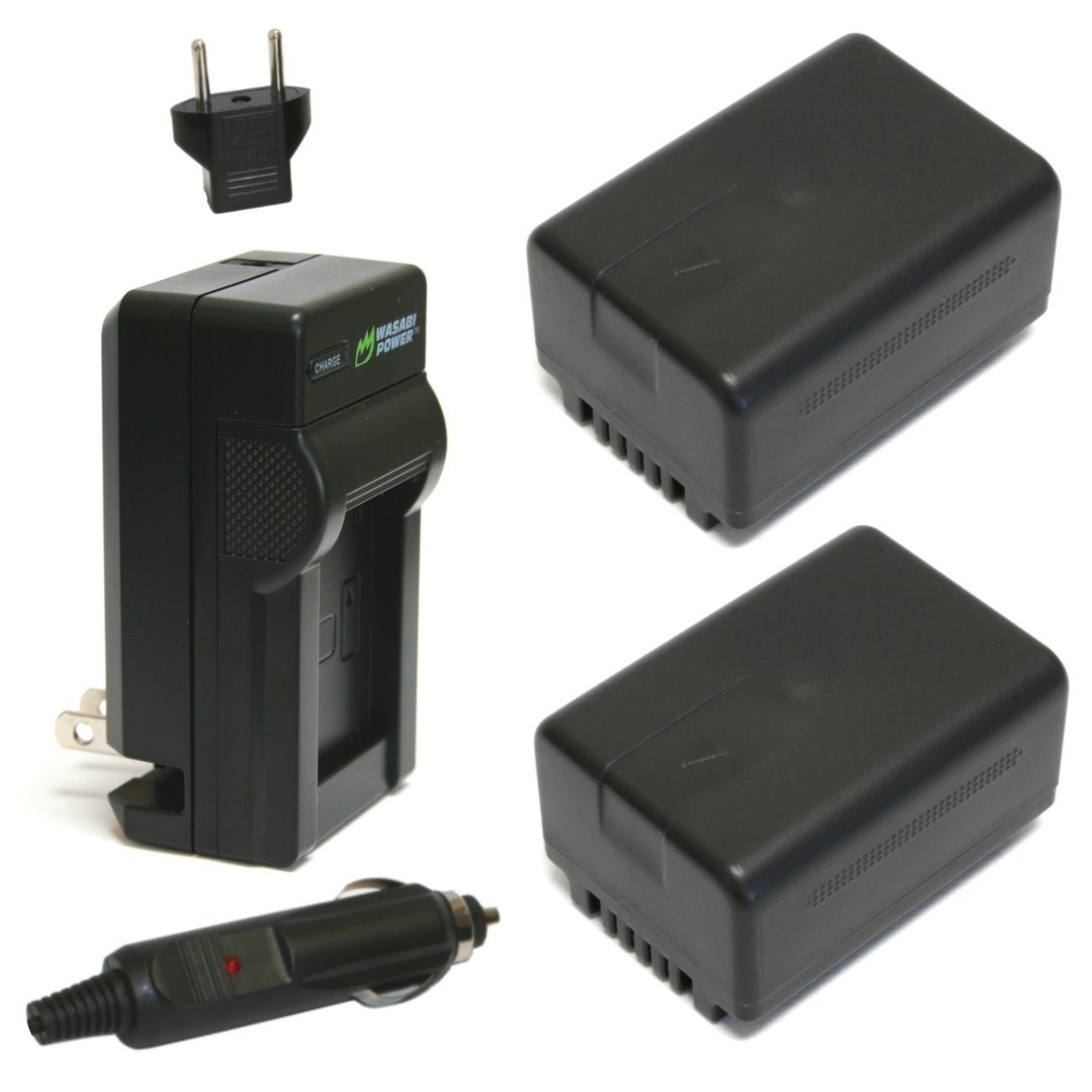 Wasabi Power Battery (2-Pack) and Charger for Panasonic VW-VBT190