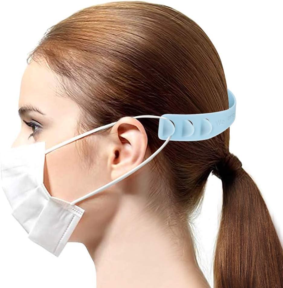 per adulti e bambini 3 ingranaggi gancio di estensione in silicone riutilizzabile Hicoo Cinghia di estensione per maschera 9 pezzi