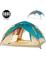 59ede87a58 ZOMAKE Tenda Campeggio Automatica 2-3 Persone, Four Seasons Tende da  Viaggio Impermeabile per