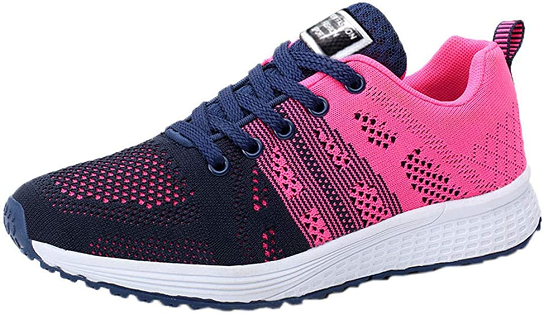 ZOELOVE Zapatillas de Running para Mujer Correr Zapatillas de Deporte de Primavera y Verano Gimnasio Calzado Casual Ligero Individuales cómodas Entrenador de Fondo Plano Plano Tejido: Amazon.es: Zapatos y complementos