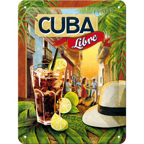 Nostalgic-Art Vintage Tin Sign Cuba Libre in Various Sizes, Small by]()
