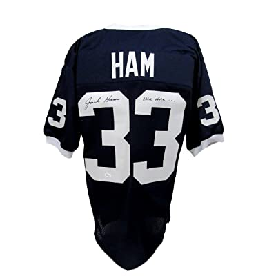 finest selection 3ee63 c8ba5 Jack Ham Penn State/PSU Signed Jersey Blue XL Inscribed We ...