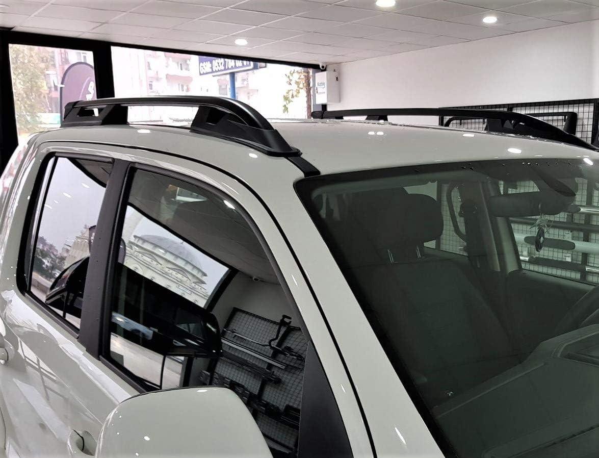 Schwarz Aluminium Dachreling Paar Dach Bars Passend Für Vw Amarok 10 Auto