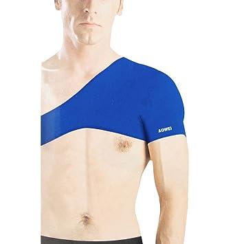 Gleader Protector de Hombro Solo Deportivo Elastico Neopreno Azul para Hombres: Amazon.es: Deportes y aire libre