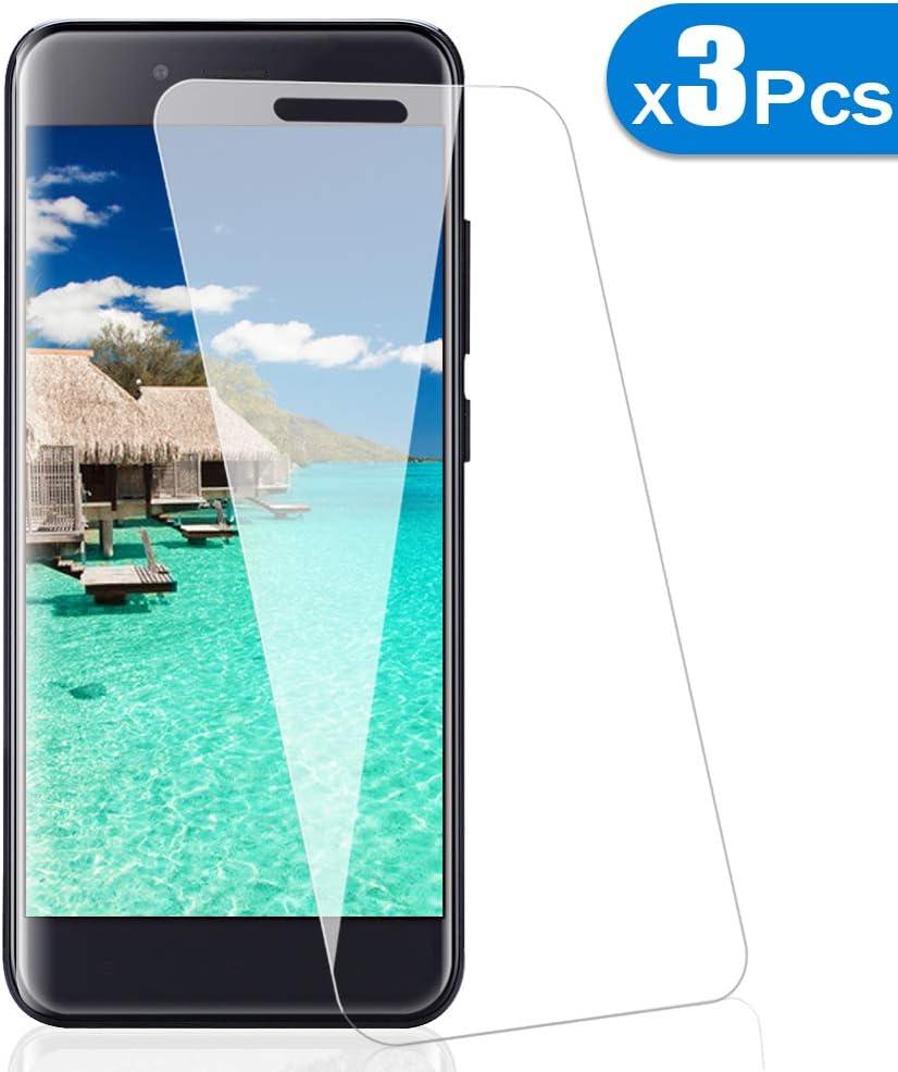 [3 Pack] Amonke Protector Pantalla para Xiaomi Mi A1/5X Cristal Vidrio Templado, Plana pero Incompleta Cobertura, 9H Dureza 2.5D curvo Borde Screen Protector para Xiaomi Mi A1/5X