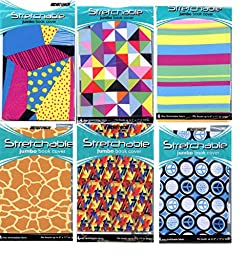 Stretchable Jumbo Book Covers ~ 6 Pack Patterns & Shapes
