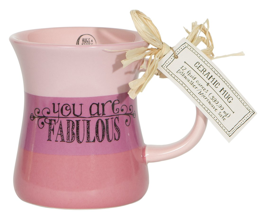 C.R. Gibson You are Fabulous Triple Dipped Ceramic Coffee Mug, Pink QM4-13896