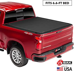 "BAK Revolver X4 Hard Rolling Truck Bed Tonneau Cover | 79131 | Fits 2019-20 New Body Style GM Silverado, Sierra 1500 6'6"" Bed"
