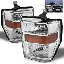 For 2008-2010 Ford F-Series Super Duty Headlights Front Lamps Pair Left+Right/2009