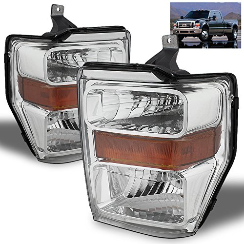 Xtune For 2008-2010 Ford F-Series Super Duty Headlights Front Lamps Pair Left+Right/2009 - Super Duty Left Headlight