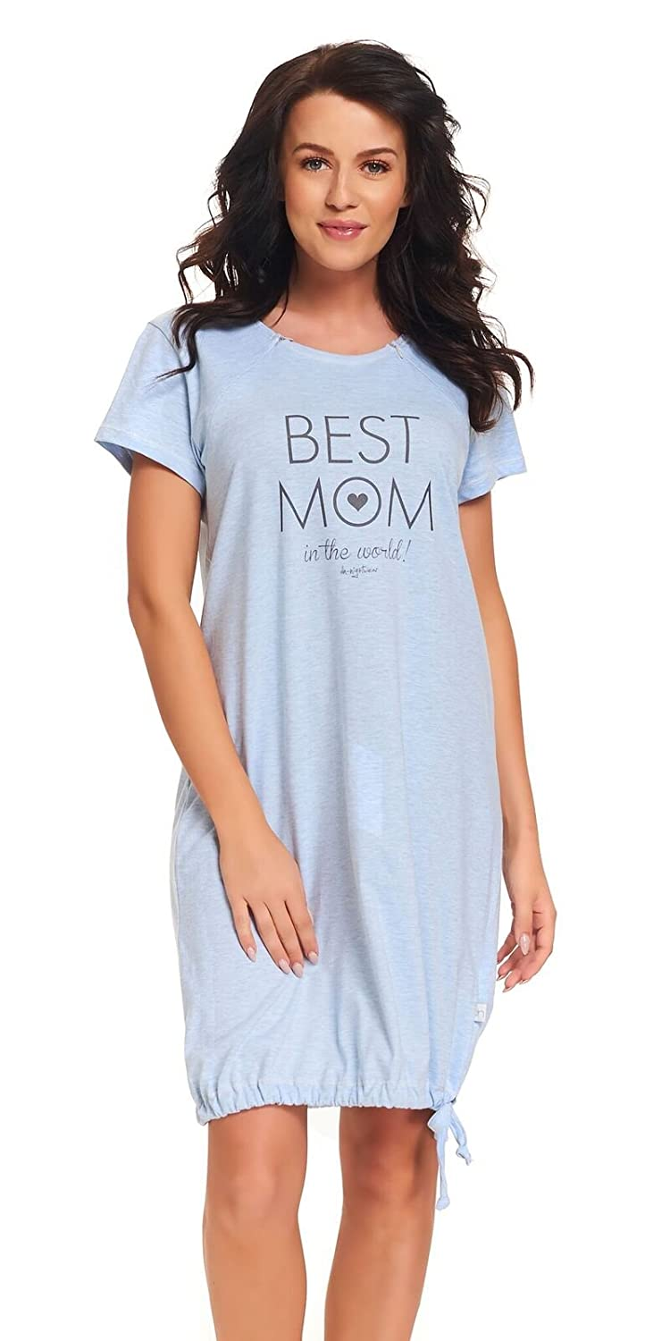f1bb76bcf dn-nightwear Women s Maternity Night Shirt  Amazon.co.uk  Clothing