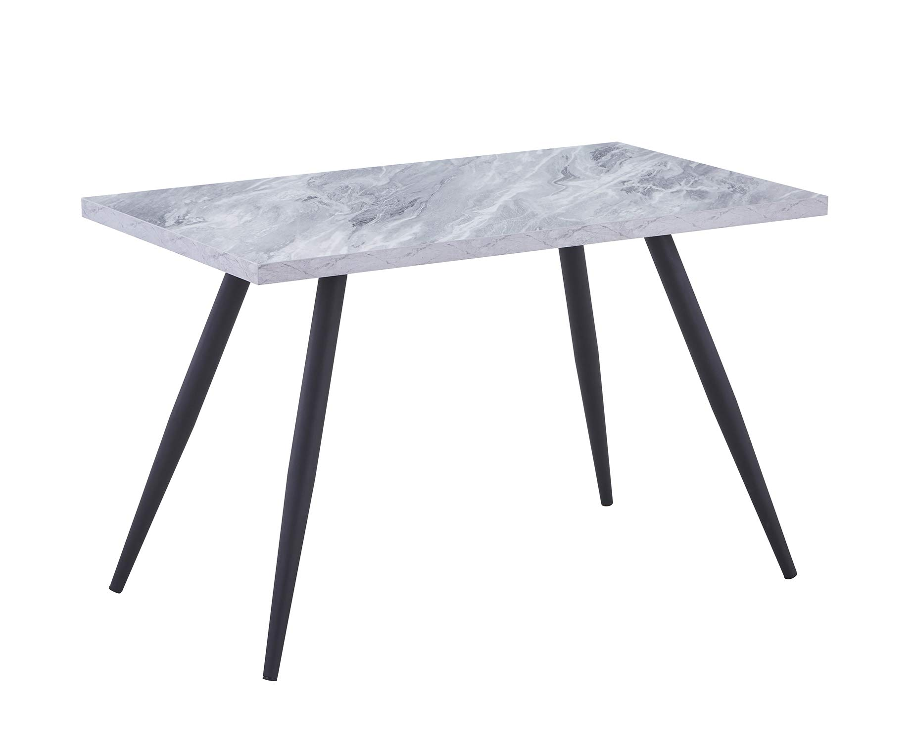 Ainpecca Dining Table With Metal Legs Kitchen Table White Marble Effect Top 120 70cm Buy Online In Burundi At Desertcart Productid 185778724