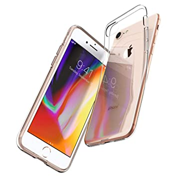 free shipping 11860 b86f3 Spigen iPhone 8 Case, iPhone 7 Case [Liquid Crystal] iPhone 7/8 Clear Case  Cover with Slim Protection and Premium Clarity for iPhone 7 / iPhone 8 - ...