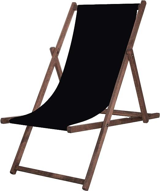 Springos Tumbona de jardín, plegable, silla de relajación, para el tiempo libre, casa y jardín: Amazon.es: Hogar