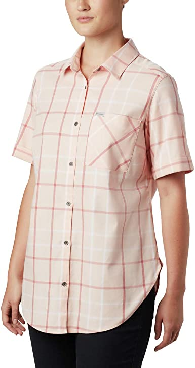 Columbia Camisa Corta elástica Casual para Mujer en Cualquier Momento Casual