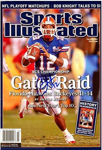 Chris Leak Gator Raid 2006 National Champs Sports Illustrated Autograph Replica Poster - Florida Gators - Florida Gators 2006 Football