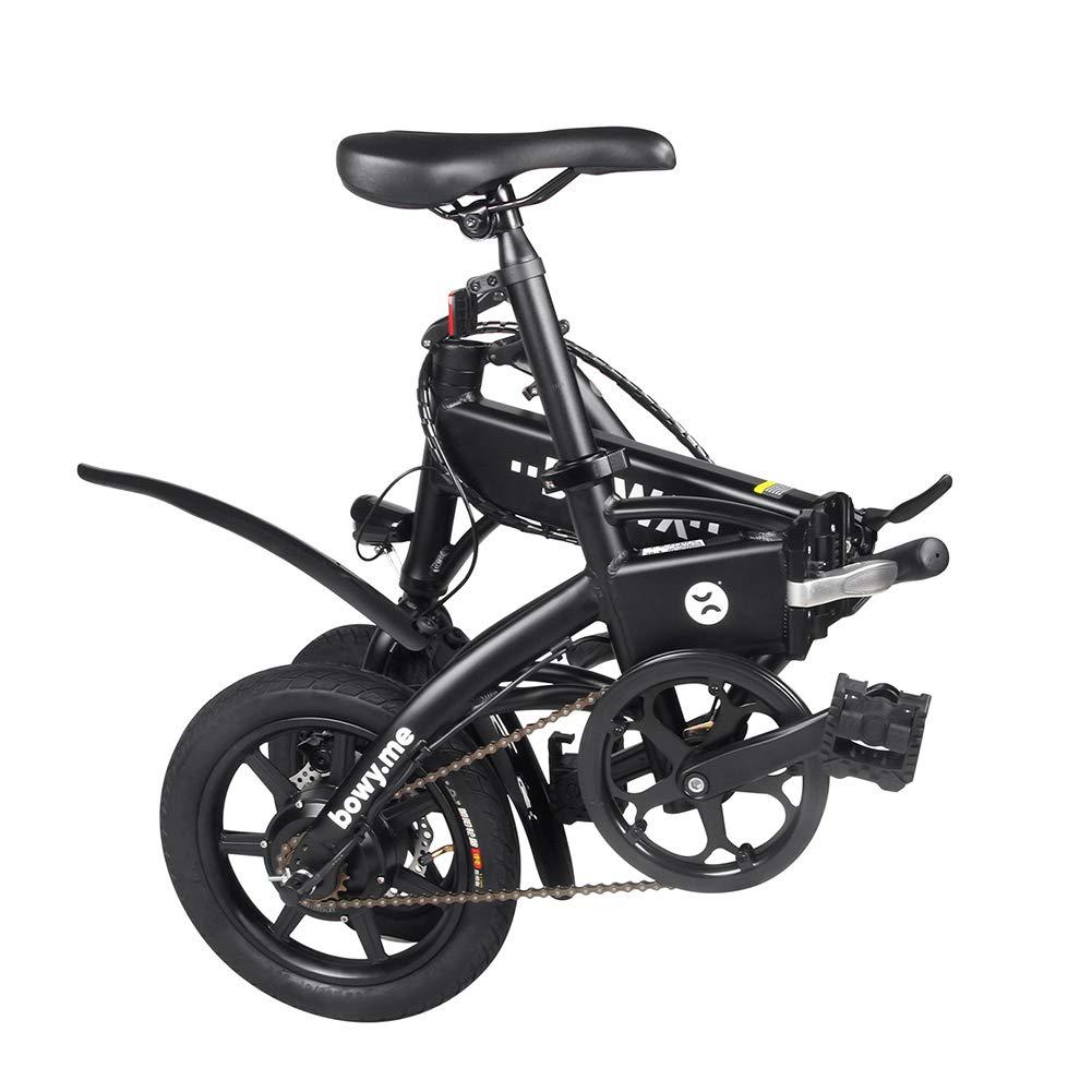 Chen0-super Plegable Bicicleta eléctrica Ligera Aviación Aluminio City Bike Frame Single Speed hasta 25 KM 240 W Motor MAX Mileage 20-25 KM para ...