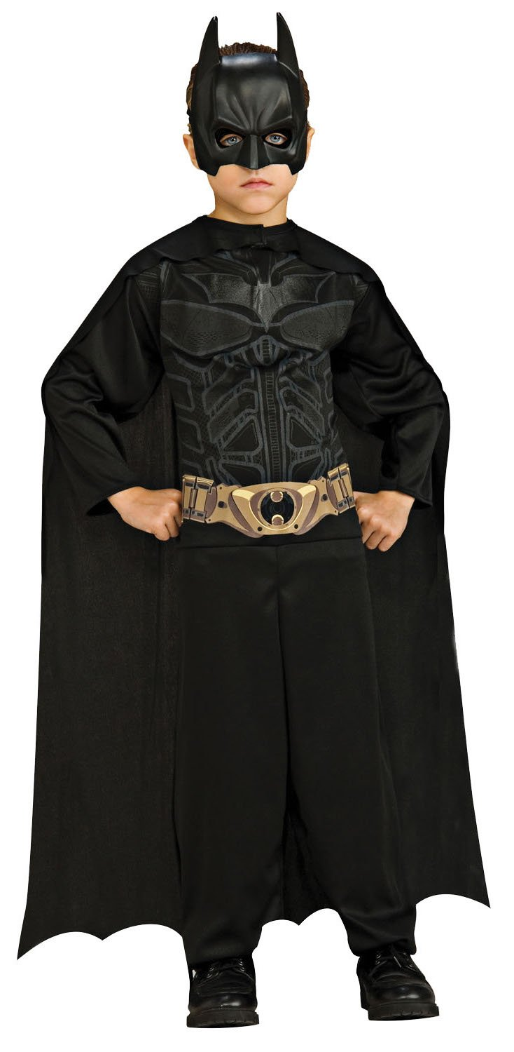 Imagine by Rubie's Batman: The Dark Knight Rises: Action Suit with Cape and Mask (Black) Small (8-10)