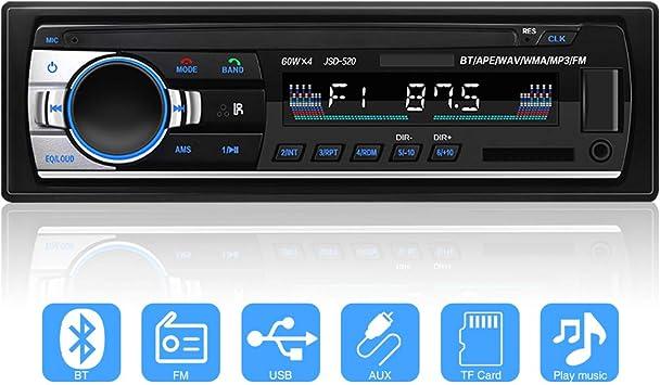 Yykj Autoradio Mit Bluetooth In Dash 1 Din Autoradio Elektronik