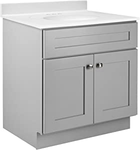 Design House 587089 Brookings Unassembled Modern Shaker Vanity Cabinet Only, 24 x 36, Gray