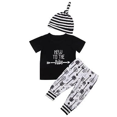 2da232f6c434 SWNONE 3pcs  Set Newborn Baby Boys Little Brother Long Sleeve Romper ...