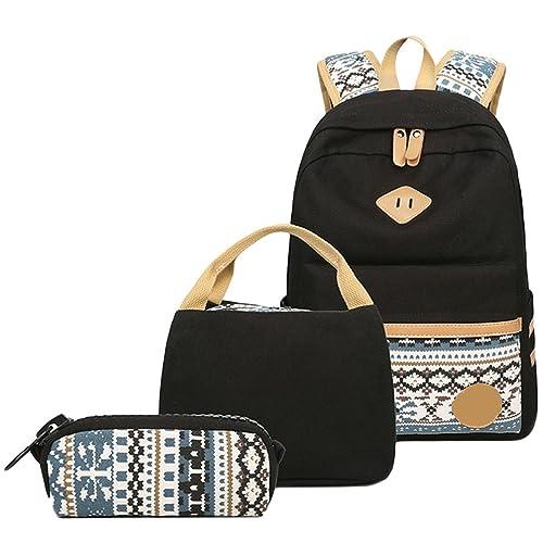 WanYang bolso de hombro mochila escolar 3 Piezas Mochila + Bolso+ Billetera Para Lona Backpack Mochilas Escolares Mochila Escolar 3Pcs: Amazon.es: Zapatos y ...