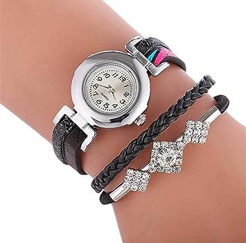 Limpieza de venta! Relojes para mujer, reloj de pulsera de cuarzo de cristal de lujo ICHQ para mujer, reloj de pulsera analógico y de moda: Amazon.es: Hogar