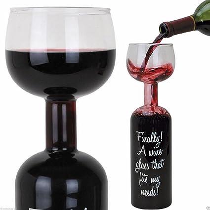 (FF11) – Botella de vidrio de vino de 750 ml y cada Refill (